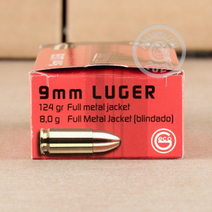 A photo of a box of GECO ammo in 9mm Luger.