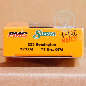 Image of the .223 REMINGTON PMC X-TAC MATCH 77 GRAIN OTM (20 ROUNDS) available at AmmoMan.com.