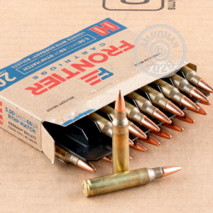 Image of the 5.56X45 HORNADY FRONTIER 68 GRAIN BTHP MATCH (500 ROUNDS) available at AmmoMan.com.
