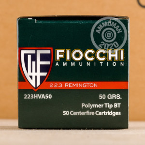 Image of 223 REMINGTON FIOCCHI IN PLANO AMMO CAN 50 GRAIN V-MAX POLYMER TIP (200 ROUNDS)