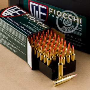 Image of the 223 REMINGTON FIOCCHI IN PLANO AMMO CAN 50 GRAIN V-MAX POLYMER TIP (200 ROUNDS) available at AmmoMan.com.