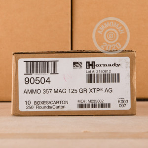 An image of 357 Magnum ammo made by Hornady at AmmoMan.com.