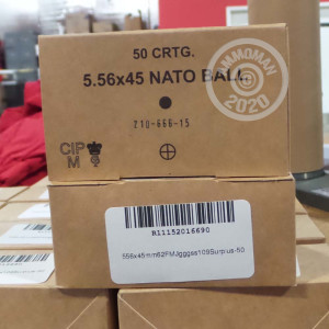 An image of 5.56x45mm ammo made by Military Surplus at AmmoMan.com.