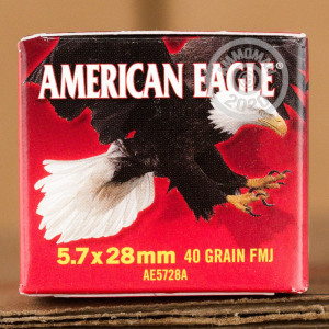 Image of 5.7 x 28 ammo by Federal that's ideal for shooting indoors, training at the range.