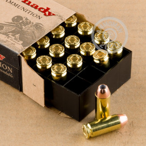 Image of 10mm ammo by Hornady that's ideal for home protection.