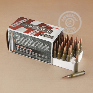 Image of 308 / 7.62x51 ammo by Hornady that's ideal for precision shooting.