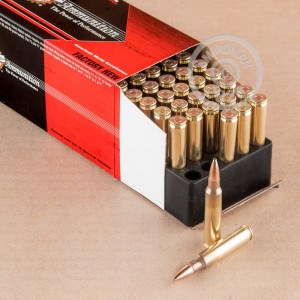 Image of 5.56x45mm ammo by Black Hills Ammunition that's ideal for home protection, precision shooting, training at the range.