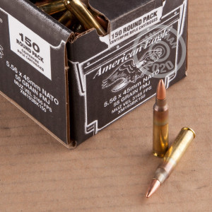 Photograph showing detail of 5.56x45MM FEDERAL AMERICAN EAGLE 55 GRAIN FMJ (600 ROUNDS)