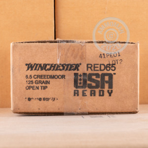 Photograph showing detail of 6.5 CREEDMOOR WINCHESTER USA READY 125 GRAIN OT (200 ROUNDS)
