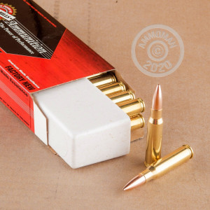 A photograph of 500 rounds of 175 grain 308 / 7.62x51 ammo with a Hollow-Point Boat Tail (HP-BT) bullet for sale.