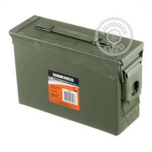 Photograph showing detail of 30 CAL MIL-SPEC AMMO CAN BRAND NEW GREEN M19 (1 CAN)