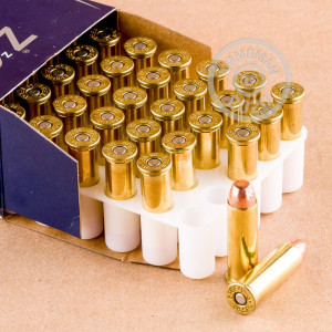 A photograph detailing the 38 Special ammo with TMJ bullets made by Speer.