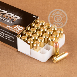 An image of 10mm ammo made by Blazer Brass at AmmoMan.com.