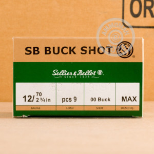 Photograph of Sellier & Bellot 12 Gauge 00 BUCK for sale at AmmoMan.com