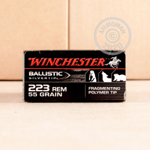Image of 223 REMINGTON WINCHESTER BALLISTIC SILVERTIP 55 GRAIN PT (20 ROUNDS)