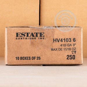 Photograph of Estate Cartridge 410 Bore #6 shot for sale at AmmoMan.com