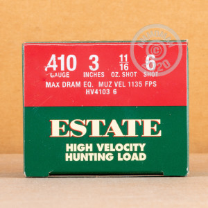 ammo made by Estate Cartridge with a 3