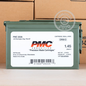 Image of the .223 REMINGTON PMC AMMO CAN 55 GRAIN FMJ-BT (840 ROUNDS) available at AmmoMan.com.