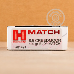 Image of 6.5 CREEDMOOR HORNADY 120 GRAIN ELD MATCH (20 ROUNDS)