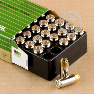 Image of .40 Smith & Wesson ammo by Remington that's ideal for home protection.