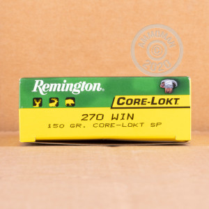 Photo of 270 Winchester soft point ammo by Remington for sale.