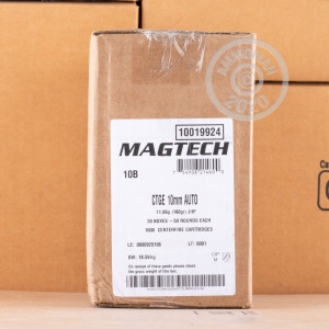 Image of 10mm ammo by Magtech that's ideal for home protection.