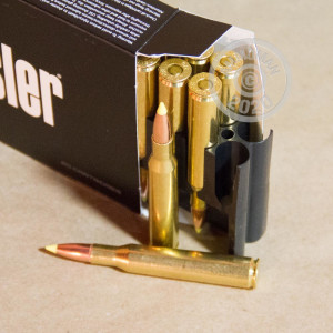 An image of 270 Winchester ammo made by Nosler Ammunition at AmmoMan.com.