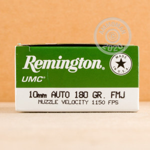 A photo of a box of Remington ammo in 10mm.