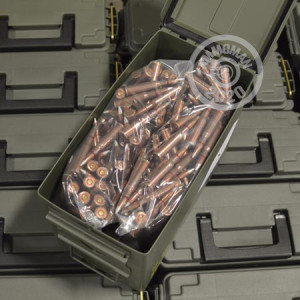 Image detailing the steel case and boxer primers on 375 rounds of Mixed ammunition.