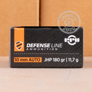 Image of 10mm ammo by Prvi Partizan that's ideal for home protection.