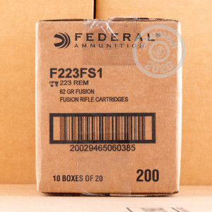 Image of .223 REMINGTON FEDERAL FUSION 62 GRAIN JHP (20 ROUNDS)