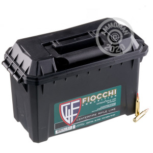 Photograph showing detail of 223 REMINGTON FIOCCHI IN PLANO AMMO CAN 50 GRAIN V-MAX POLYMER TIP (200 ROUNDS)