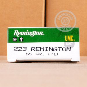 Image of the 223 REMINGTON REMINGTON UMC 55 GRAIN FMJ (500 ROUNDS) available at AmmoMan.com.