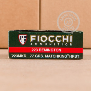 Image of 223 REMINGTON FIOCCHI 77 GRAIN MATCHKING HP (200 ROUNDS)