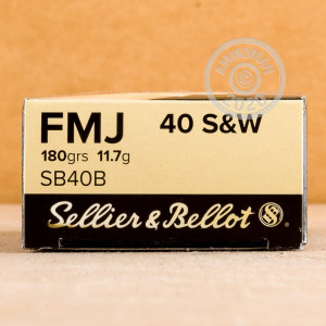 Photo of .40 Smith & Wesson FMJ ammo by Sellier & Bellot for sale at AmmoMan.com.