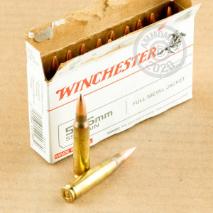 Image of the 5.56X45 WINCHESTER 55 GRAIN FMJ M193 (500 ROUNDS) available at AmmoMan.com.
