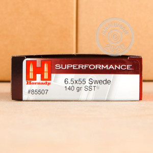 Photo of 6.5 x 55 Swedish Polymer Tipped ammo by Hornady for sale.