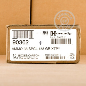 An image of 38 Special ammo made by Hornady at AmmoMan.com.