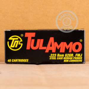 Photo detailing the 223 REMINGTON TULA 62 GRAIN FMJ (1000 ROUNDS) for sale at AmmoMan.com.