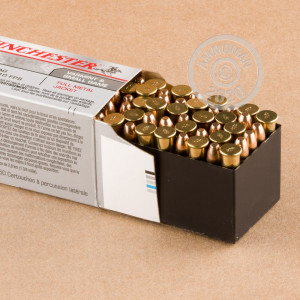 rounds of .22 WMR ammo with FMJ bullets made by Winchester.