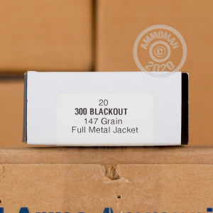 An image of 300 AAC Blackout ammo made by Armscor at AmmoMan.com.