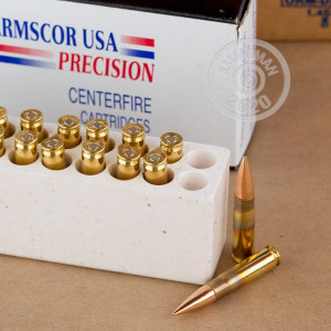 A photo of a box of Armscor ammo in 300 AAC Blackout.