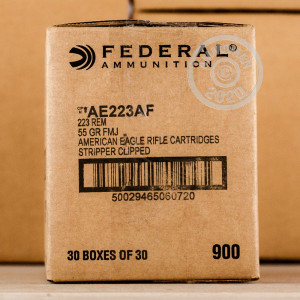 Image of .223 FEDERAL AMERICAN EAGLE 55 GRAIN FMJ #AE223AF (900 ROUNDS)