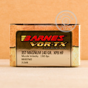 Photo of 357 Magnum JHP ammo by Barnes for sale at AmmoMan.com.