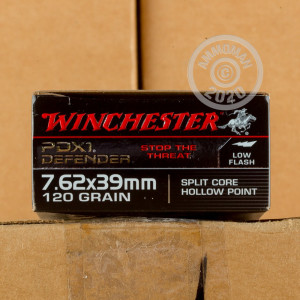An image of 7.62 x 39 ammo made by Winchester at AmmoMan.com.