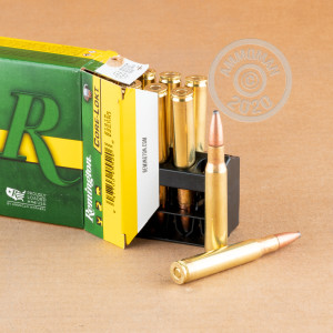 Image of 30.06 Springfield ammo by Remington that's ideal for whitetail hunting.