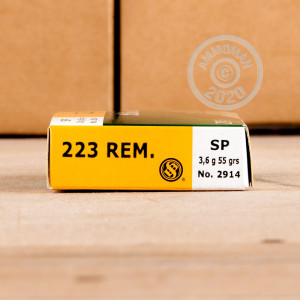 Image of the .223 REMINGTON SELLIER & BELLOT 55 GRAIN SP (20 ROUNDS) available at AmmoMan.com.