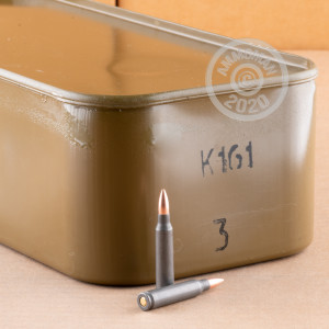 Photo detailing the 223 REMINGTON WOLF MILITARY CLASSIC SPAM CAN 55 GRAIN FMJ (500 ROUNDS) for sale at AmmoMan.com.