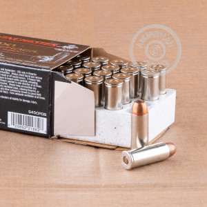 An image of .45 COLT ammo made by Winchester at AmmoMan.com.
