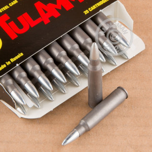 Photo detailing the 223 REM TULA 62 GRAIN FMJ (20 ROUNDS) for sale at AmmoMan.com.